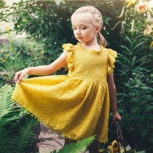 Mustard Lace Dress